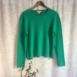 Brooks Brothers Cashmere Cotton Cable Knit Sweater